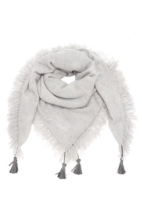 DOUCE GLOIRE Alma Natural Scarf in Grey Melange