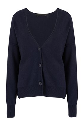 itzie short cardigan in navy