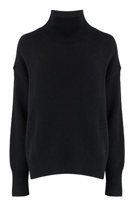 360 Sweater TASHA SEAM DETAIL TURTLENECK JUMPER IN BLACK