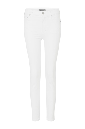 Cara High Rise Cigarette Jean in Optic White