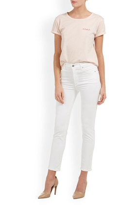 Citizens of Humanity Jeans Cara High Rise Cigarette Jean in Optic White