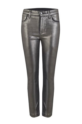 ruby high rise crop jean in galactic silver