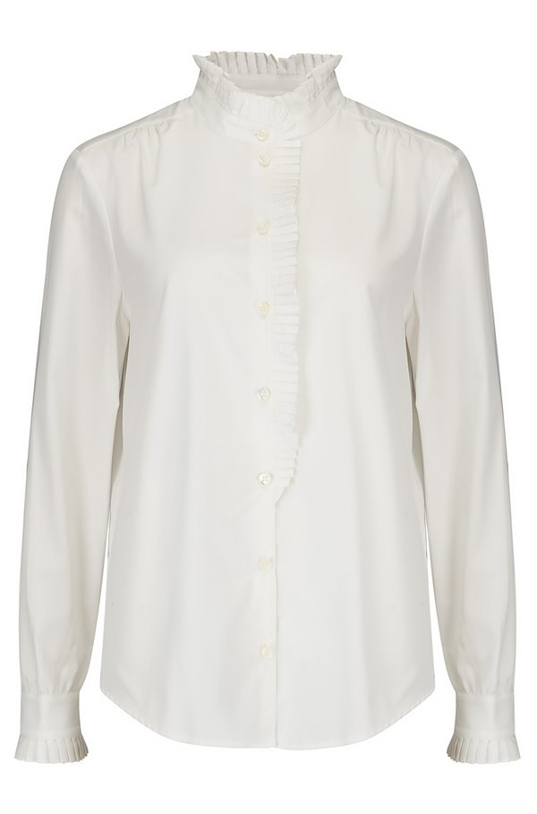 EASY PLEATED TOP IN BLANC