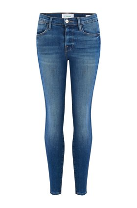 Frame LE HIGH SKINNY JEAN IN PACKARD