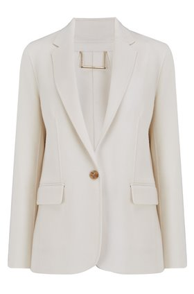 boyfriend blazer in off white