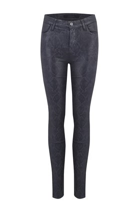 J Brand Jeans MARIA SKINNY JEAN IN GREY COATED BOA