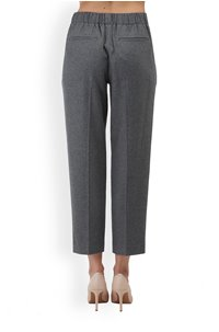 easy tapered pull-on trouser in heather grey
