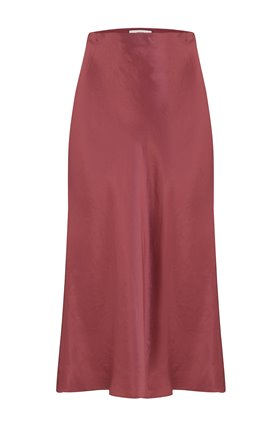 SLIP SKIRT IN ROSEWOOD