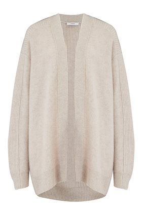 Vince RIBBED BACK CARDIGAN IN H DOVE