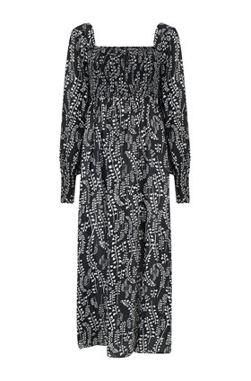 Rixo Marie Long Sleeve Midi Dress