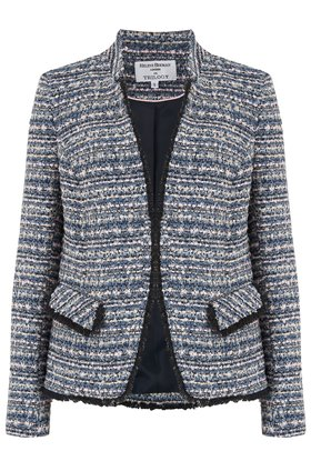Helene Berman Tobiac Double V-Neck Jacket in Navy Pink