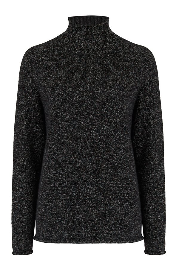 lurex winter sweatshirt in black