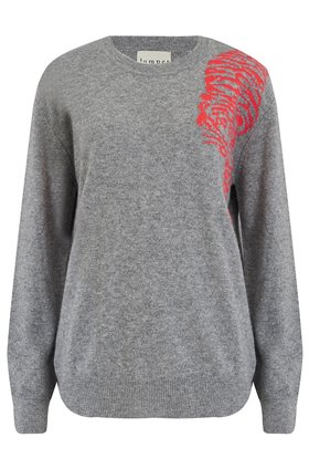 creeping tiger jumper in mid grey