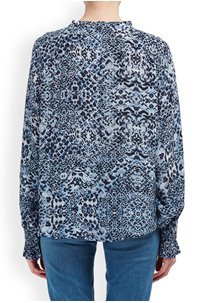 florence blouse in navy animal