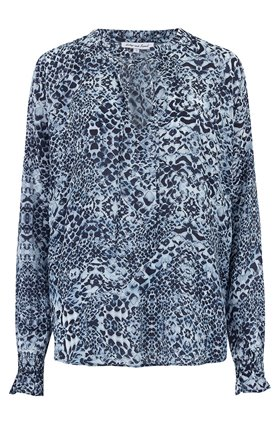 Lily & Lionel FLORENCE BLOUSE IN NAVY ANIMAL