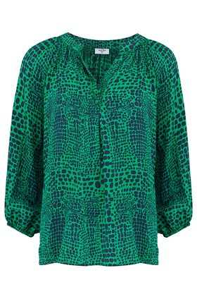 clevedon blouse in jungle green
