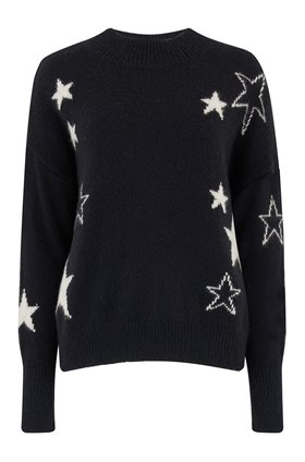 kana jumper in midnight ivory stars
