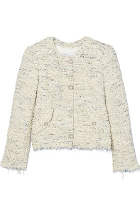 IRO MERCIE JACKET IN WHITE AND BLUE