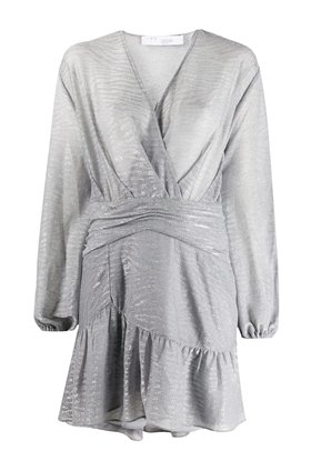 IRO GESTA DRESS IN STONE GREY