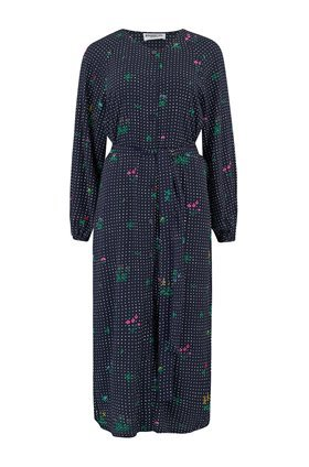 Essentiel TATACLEAN SHIRT DRESS IN BLUE FLORAL