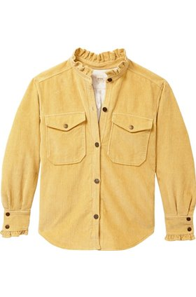 corduroy jacket in flaxen