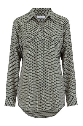 signature geo moderne shirt in true black multi