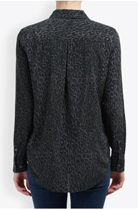 essential leopard shirt in foret nuit multi