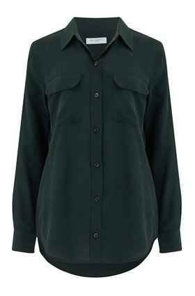 SLIM SIGNATURE SHIRT IN FORET NUIT