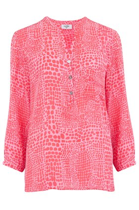 Mercy Delta EXCLUSIVE STANFORD BLOUSE IN MERMAID PINK