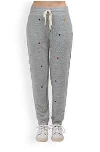 oakland trouser in grey rainbow hearts