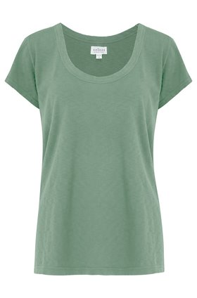 Velvet KATIE SCOOP NECK TEE IN ALOE