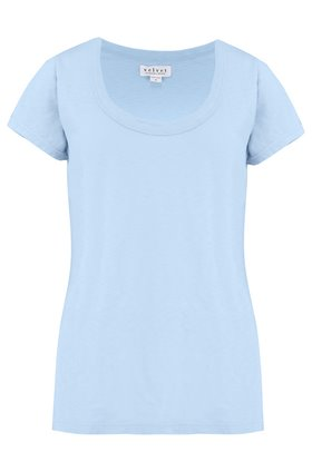 Velvet KATIE SCOOP NECK TEE IN ICE
