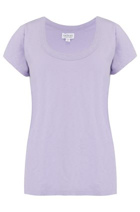 katie scoop neck tee in sorbet