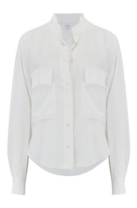 clean safari shirt in off white