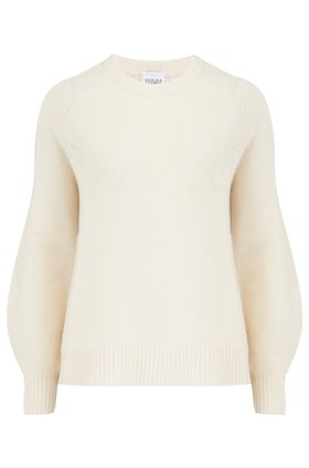 Madeleine Thompson DINLAS WAFFLE BACK JUMPER IN CREAM
