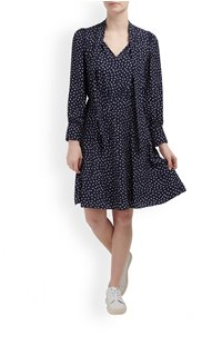 BLURRY HEART DRESS IN NAVY COMBO