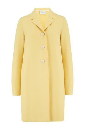 Harris Wharf London BOXY COAT IN PASTEL YELLOW