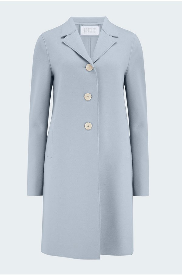 boxy coat in grey blue