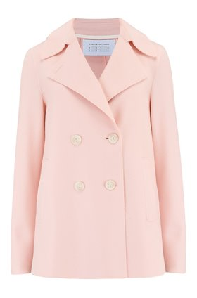 Harris Wharf London PEACOAT IN PASTEL PINK