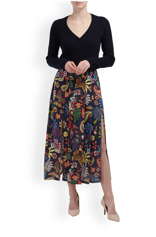 georgia skirt in woodstock navy