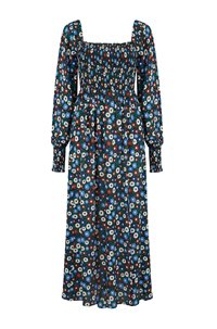 marie midi dress in retro micro floral
