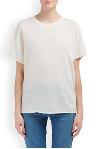 POPOVER CREW TOP IN OFF WHITE