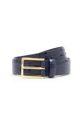 snake belt in navy