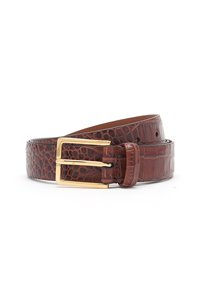 snake belt in tan