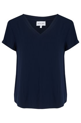 v-neck t-shirt in indigo