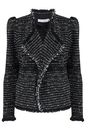 diana jacket in black & silver
