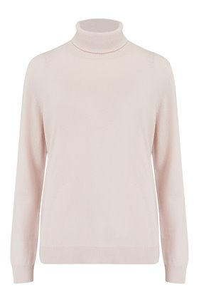 funda roll neck jumper in pink