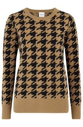 briseis harlequin jumper in camel