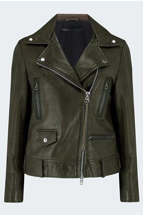 thin seattle jacket in dark green