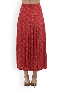 georgia skirt in red square paisley